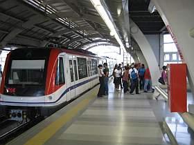 Riding subway in santo domingo dom rep Metro santo domingo madrid