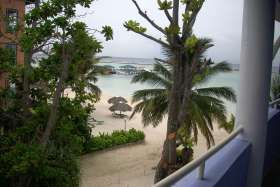 holiday beach view from hotel