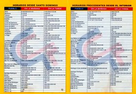 Caribe Tours Bus schedule