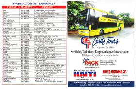 Caribe Tours Phones and Addresses