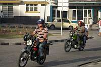 Una Moto for passenger to ride in Santiage de Cuba