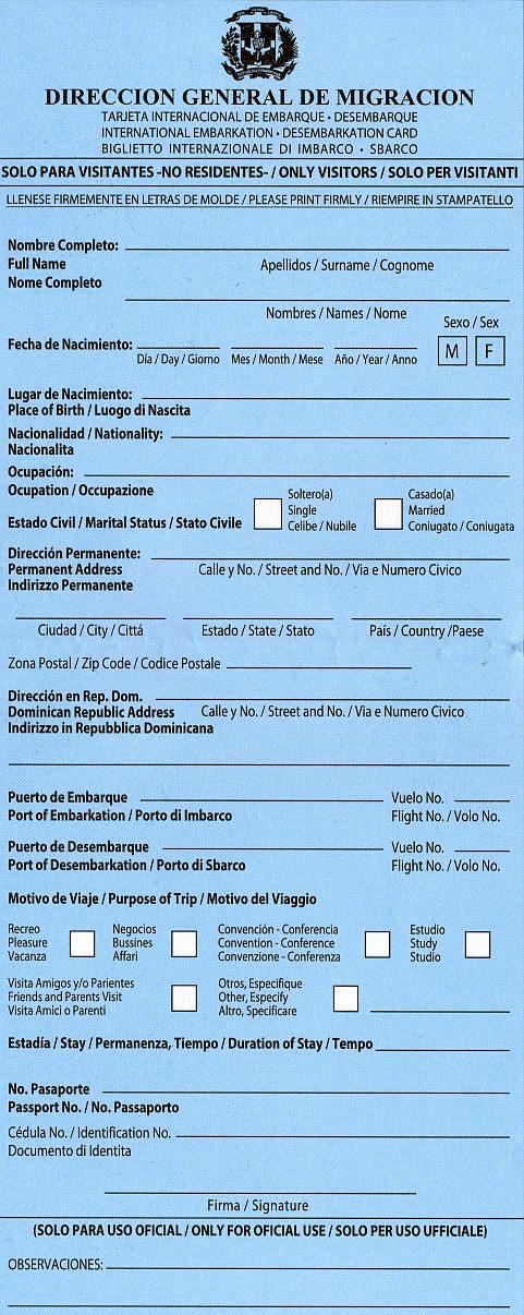 Travel Information Dominican Republic Cuba Visa