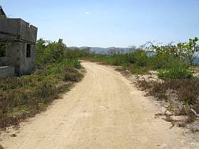 property left road, beach right