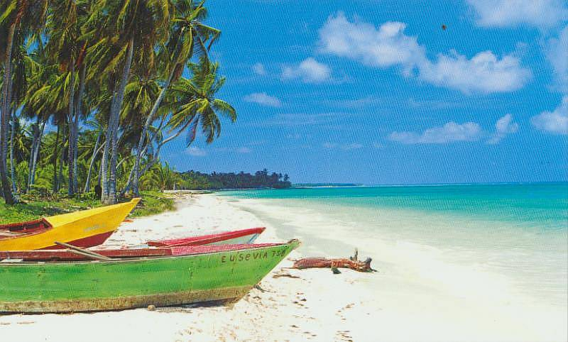 Boats On The Beach In Dominican Republic Mage For Tourists Boca Chica